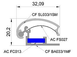Алюминиевый профиль с клик системой(часто сменной информацией) 33мм