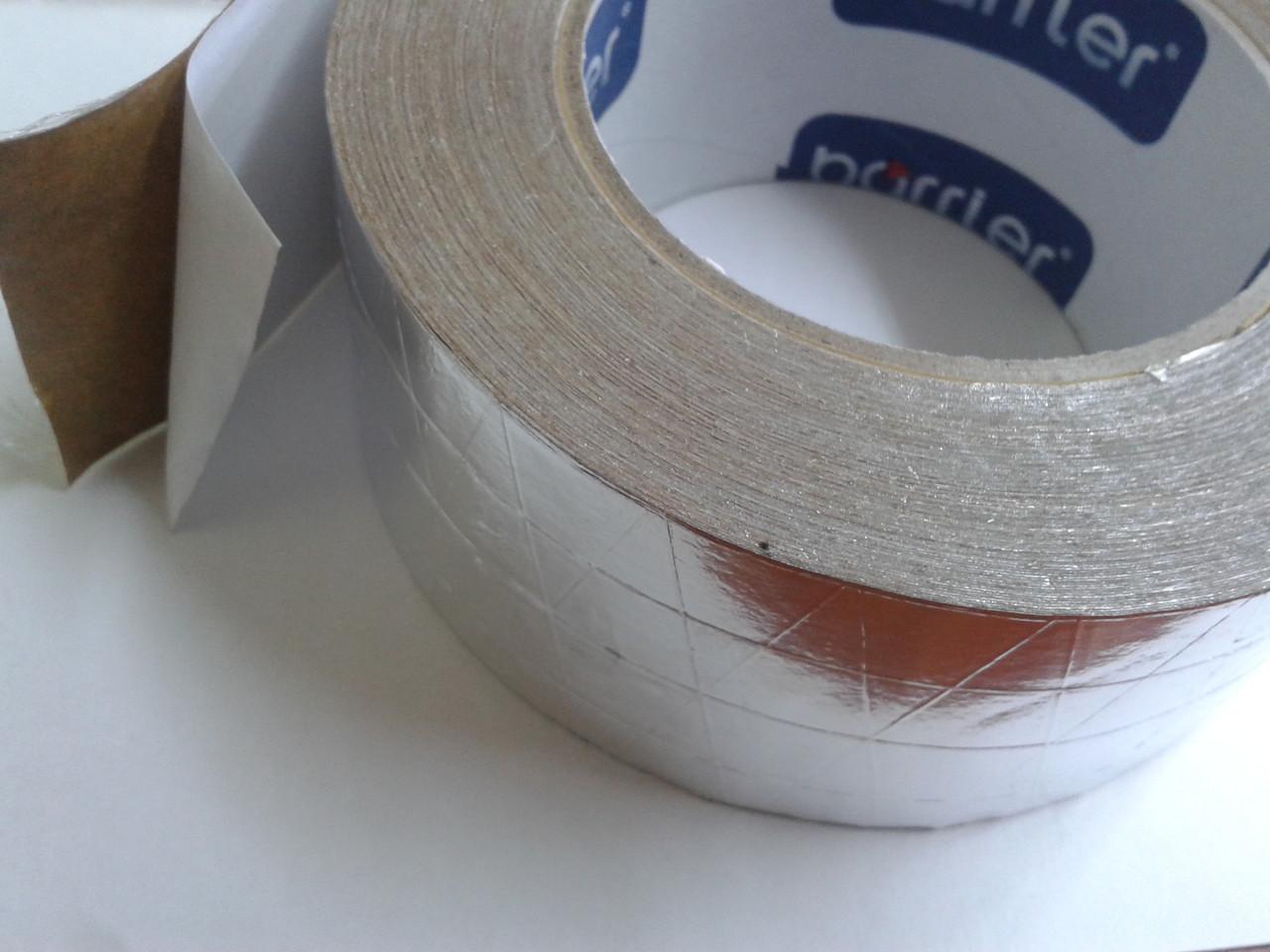Скотч Металлизированный алюминиевый армированный 7см*50м.