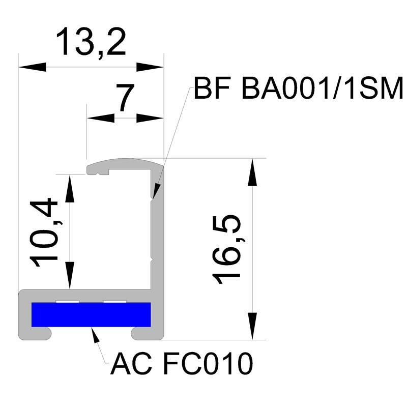 Алюминиевый багетный профиль (Белый, черный, синий, красный (Глянец) Золото ,Серебро ,Бронза(Матовый)