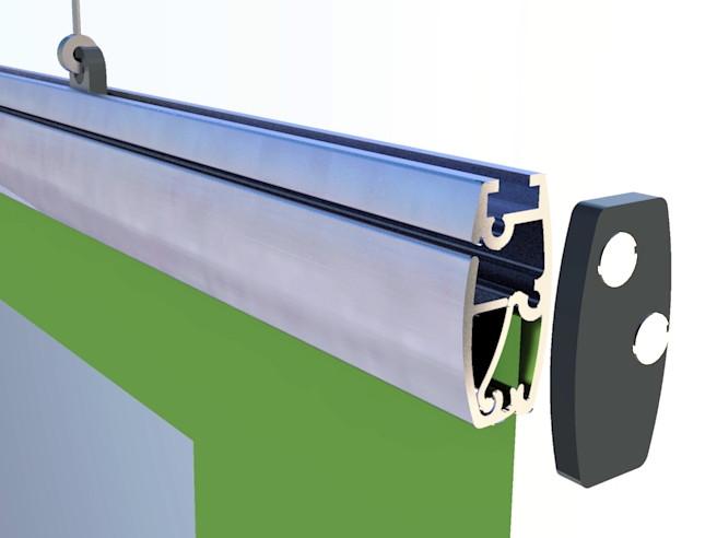 Алюминиевый профиль для повеса бумаги,баннера,ткани
