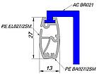 Алюминиевый профиль для повеса бумаги,баннера,ткани, фото 5