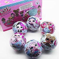 Упаковка Кукла-сюрприз в шарике LOL Surprise! Упаковка 6 штук