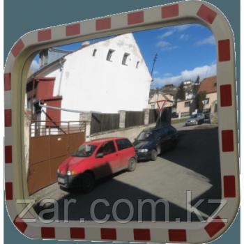 Дорожное сферическое зеркало 508*762 мм (со светоотражающей полосой)