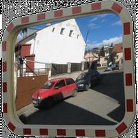 Дорожное сферическое зеркало 508*762 мм (со светоотражающей полосой), фото 1