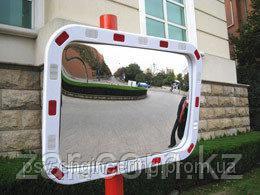 Дорожное сферическое зеркало 600*800 мм (со светоотражающей полосой)