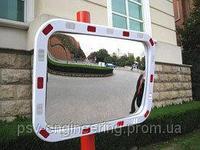 Дорожное сферическое зеркало 600*800 мм (со светоотражающей полосой), фото 1
