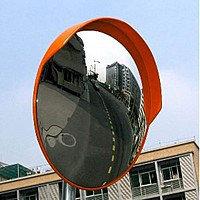 Дорожное сферическое зеркало 800 мм (с козырьком)