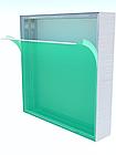 Алюминиевый профиль для натяжки ткани 100мм (световой), фото 2