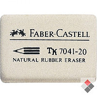 Ластик 30x23x7.5мм, для стирания простых/цветных карандашей, белый Faber-Castell