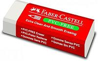 Ластик 41x18.5x11.5мм, для стирания простых/цветных карандашей, белый Faber-Castell