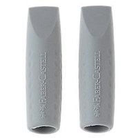 Ластик-колпачок, для стирания карандаша, 2шт, серый Faber-Castell