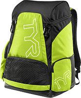 Рюкзак TYR Alliance 45L Backpack цвет 510 Фиолетовый/Черный полиэстер, нейлон , 45 литров, TYR, 51x34x27 см, 730 Светло-желтый/Черный