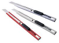 Нож канцелярский 13см, 80 х 8 мм, металлический корпус KW-trio