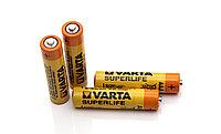 Батарейки мизинчиковые Varta Superlife 4 шт. в пачке. ААА