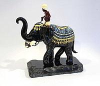 Статуэтка Наездник на слоне. Ручная работа из муранского стекла. Италия