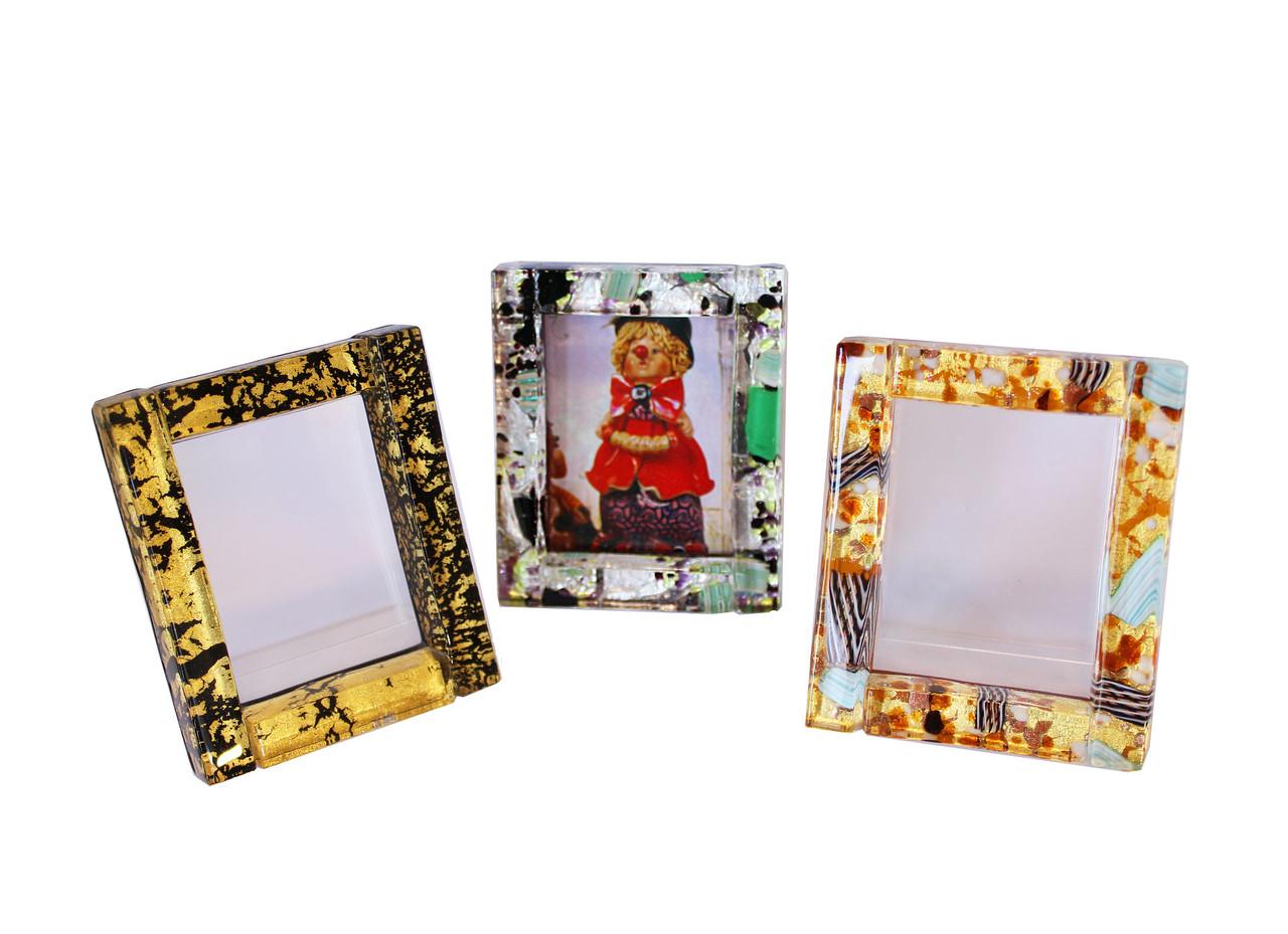 Фоторамка из муранского стекла. Ручная работа. Италия