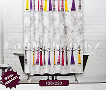 Водонепроницаемая тканевая шторка для ванной Jackline 180x200 см