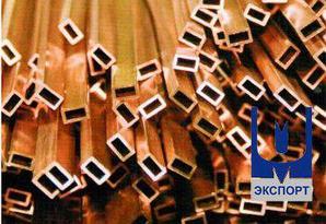 Труба бронзовая профильная 105 х 85 х 10,0 БрАЖМЦ