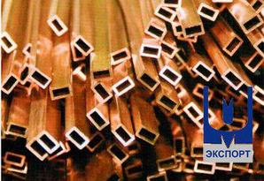 Труба бронзовая профильная 95 х 70 х 12,5 БрАЖМЦ
