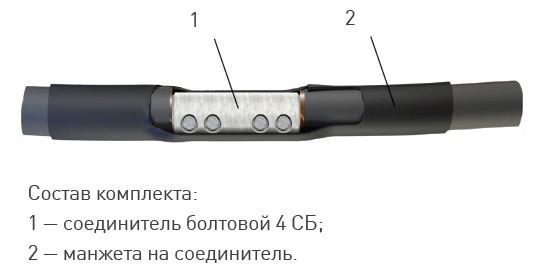 Соединительная термоусаживаемая муфта 1 ПСТ(б)- 1