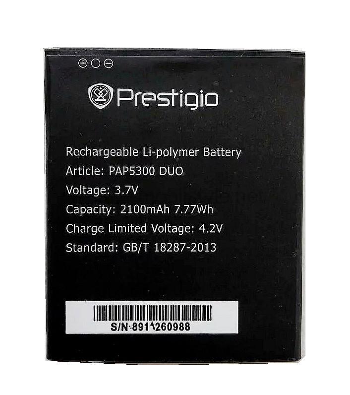 Заводской аккумулятор для Prestigio MultiPhone 5300 Duo (PAP5300 Duo, 2100mah)