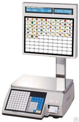 Торговые весы с печатью этикеток CAS (Юж. Корея) CL-5000J-15IS
