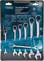 Набор ключей комбинированных 8-19 мм 7 шт с трещоткой GRОSS