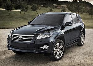 """Порог-площадка """"Black"""" Toyota Rav 4, Long 2006-2010"""