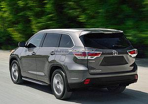 """Порог-площадка """"Premium"""" Toyota Highlander 2010-2013"""