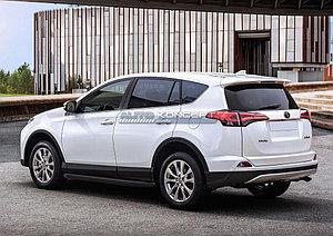 """Порог-площадка """"Black"""" Toyota Rav 4 2015-"""