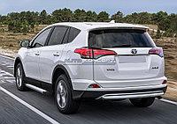 """Порог-площадка """"Silver"""" Toyota Rav 4 2015-"""