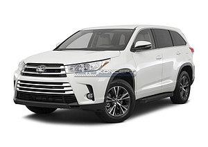 """Порог-площадка """"Black""""  Toyota Highlander 2013-2016-"""