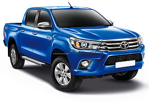 "Порог-площадка ""Silver""  Toyota Hilux 2015-"
