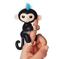 Интерактивная ручная мини -обезьянка -Fingerlings -Черная -Finn, фото 1