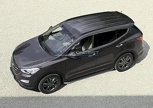 "Порог-площадка ""Premium"" Hyundai Santa Fe 2010-2012"