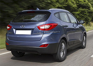 """Порог-площадка """"Black"""" Hyundai IX35 2010-2013-2015"""