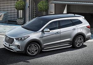 "Порог-площадка ""Premium"" Hyundai Grand Santa Fe 2013-2015"
