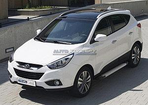 "Порог-площадка ""Silver""  Hyundai IX35 2010-2013-2015"