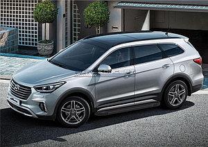 "Порог-площадка ""Black""  Hyundai Grand Santa Fe 2013-2015"