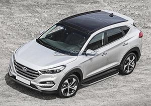 "Порог-площадка ""Premium"" Hyundai Tucson 2015-"