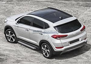 "Порог-площадка ""Bmw-Style"" Hyundai Tucson 2015-"
