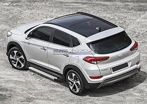 "Порог-площадка ""Silver""  Hyundai Tucson 2015-"
