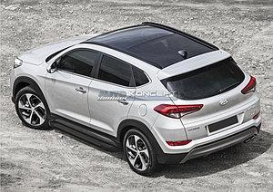 "Порог-площадка ""Black""  Hyundai Tucson 2015-"