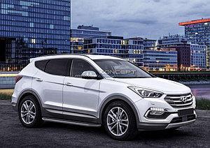 "Порог-площадка ""Premium"" Hyundai Santa Fe Premium 2015-2016"