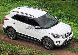 "Порог-площадка ""Black""  Hyundai Creta 2016-"