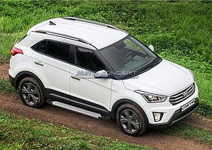 "Порог-площадка ""Silver""  Hyundai Creta 2016-"