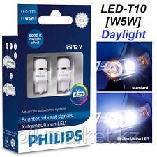 PHILIPS Vision LED Автомобильная лампа T10, Белый свет, 6000 К, Габаритные огни и лампы для салона , фото 2
