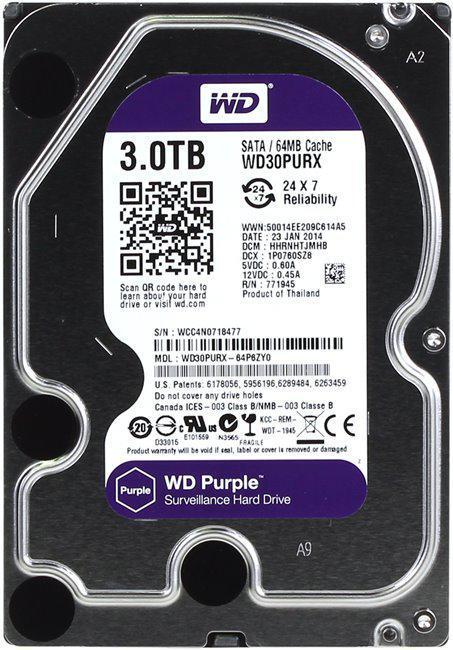 Внутренний жесткий диск 3 Тб WD