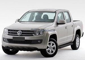 "Порог-площадка ""Black"" Volkswagen Amarok 2010-2016-"
