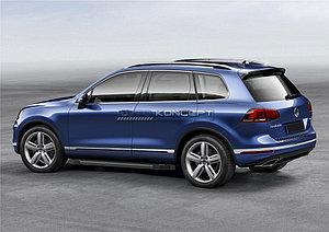 "Порог-площадка ""Black""  Volkswagen Touareg R-Line 2010-2014"